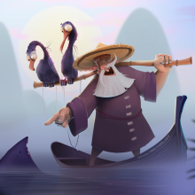 Hungry creatures & cormorant fisherman